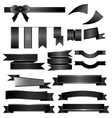 Black ribbons set isolated on white background vector image vector image