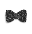 Black sparkling glitter decorated bow vector image vector image