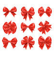 bow knots for new year and xmas gift decorations vector image