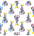 bright pear seamless pattern with lettering design vector image vector image