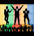 business leaders speech vector image