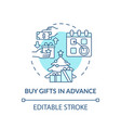 buying gifts in advance concept icon vector image