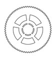 car wheel the black color icon vector image vector image
