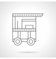 Cart of hot dog flat thin line icon vector image