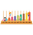 children on colourful abacus vector image vector image