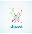 Chip set vector image