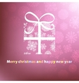 Christmas card template design EPS8 vector image vector image