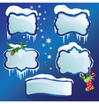 Collection of glossy winter frames with snowdrifts vector image