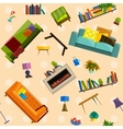 collection of modern flat furniture vector image