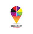 color point logo design vector image vector image