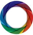 Colorful circle with rainbow colors vector image