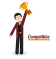 Competition design vector image vector image