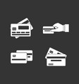 credit card icon set grey vector image