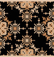 ethnic pixel seamless pattern embroidery vector image vector image