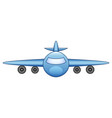 flying airplane isolated on white background vector image