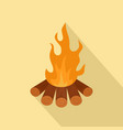 forest fire icon flat style vector image