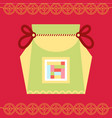fortune bag chinese traditional greeting holiday vector image vector image