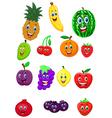 Fruit cartoon character vector image vector image
