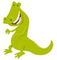 funny crocodile wild animal character vector image