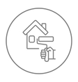 House painting line icon vector image vector image