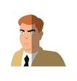 Isolated inspector man cartoon design vector image vector image