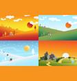 landscape set1 vector image