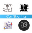 leasing icon vector image vector image