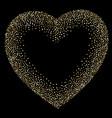 luxury golden frame on black gold glittering vector image vector image