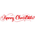 merry christmas calligraphy lettering text symbol vector image