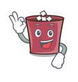okay hot chocolate character cartoon vector image