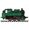 old green tank engine locomotive vector image