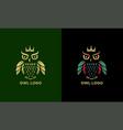 owl logo design exclusive concept vector image