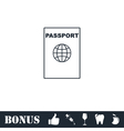 Passport line icon flat vector image vector image