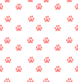 paw background pattern vector image vector image