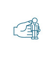 personnel management linear icon concept vector image