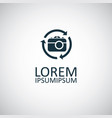 photo camera arrow icon for web and ui on white vector image