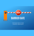 realistic detailed 3d barrier gate concept ad vector image vector image