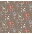 Rustic hand drawn flower seamless pattern vector image vector image