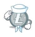 sailor litecoin character cartoon style vector image