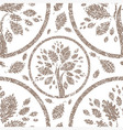 seamless tree pattern 05 grunge vector image vector image