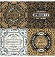 set four ornate vintage labels vector image vector image