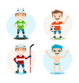 set of of a boy vector image vector image