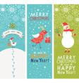 Set of vertical christmas and new year banners vector | Price: 3 Credits (USD $3)