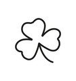 shamrock icon outline irish clover symbol vector image vector image