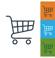 shopping cart icon trolley isolated vector image