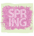 spring background with hand drawn leave vector image vector image