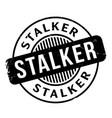 stalker rubber stamp vector image vector image
