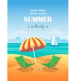 Summer tropical poster background vector image