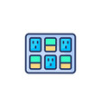 switchboard icon in logotype vector image vector image