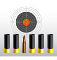 target with bullets vector image vector image
